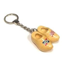Schlüsselanhänger mit 2 Clogs mit Flagge