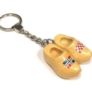 Schlüsselbund mit 2 Clogs mit Flagge