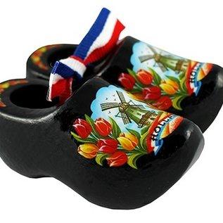 souvenirs klompjes zwart 14cm
