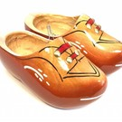 Robust children's clogs red-brown