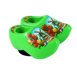 clogs with a magnet green