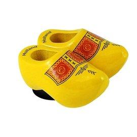 Magneetklompjes geel met boerenmotief