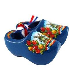 souvenirs klompjes blauw 14cm