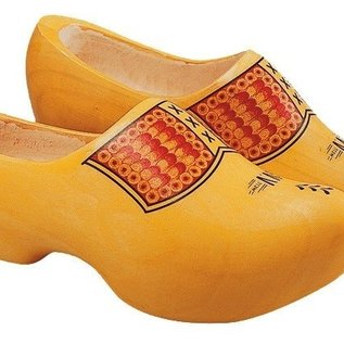 Yellow farmer wooden shoes