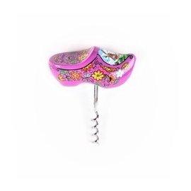 purple souvenir clog designed as a corkscrew