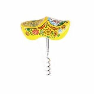 Geel souvenirklompje uitgevoerd als een kurkentrekker