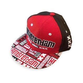 Kappe Amsterdam rot-schwarz