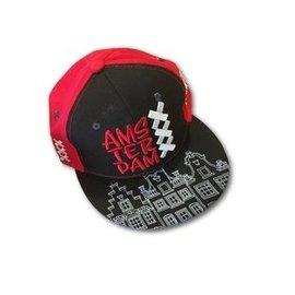 Cap Amsterdam black-red