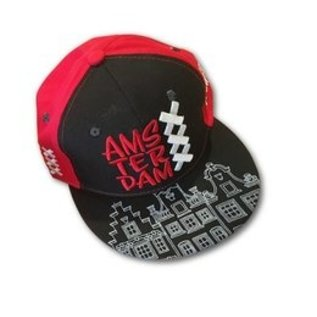 Kappe Amsterdam schwarz-rot