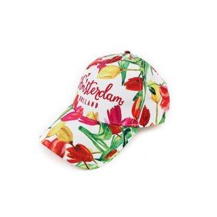 Kappe Tulpen mehrfarbig