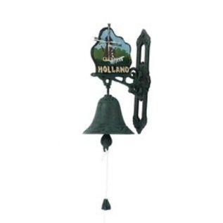 Große nostalgische Türklingel mit Windmühlenbild