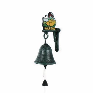 Small nostalgic doorbell with image of wooden shoes