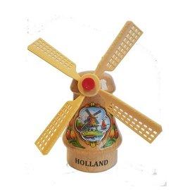 Souvenirs windmolen transparant 14cm