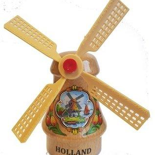 Souvenirs windmill transparent 14cm