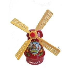 Souvenirs windmolen rood 14cm