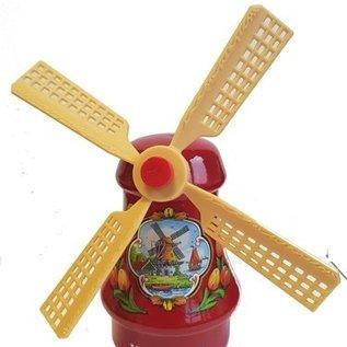 Souvenirs windmill red 14 cm