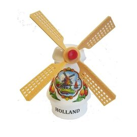 Souvenirs windmolen wit 14cm