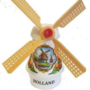 Souvenirs Windmühle weiß 14 cm