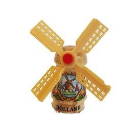 Transparante souvenirs molen op een magneet