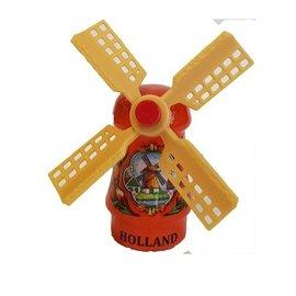 Orange Souvenirs Mühle auf einem Magneten
