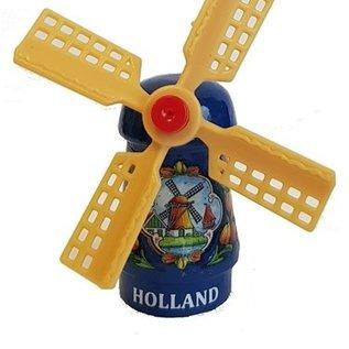 Blauwe souvenirs molen op een magneet