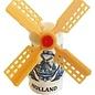 Delftblauwe souvenirs molen op een magneet
