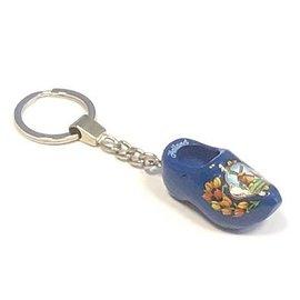 Sleutelhanger souvenir klompje blauw