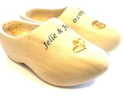 Anniversary wooden shoes - Wedding wooden shoes