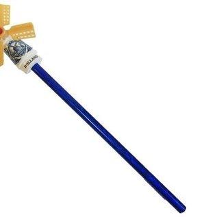 Potlood met een Delfts blauwe windmolen