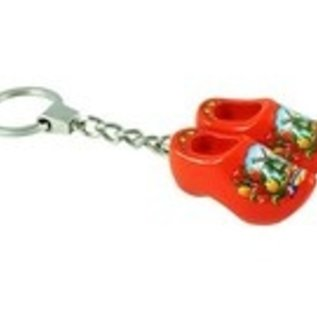 Clog keychain with text