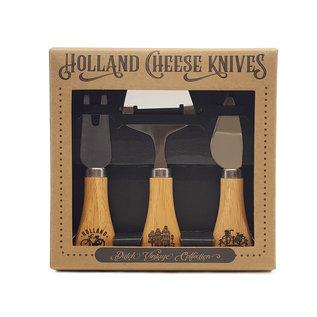 Gift set cheese knives wood