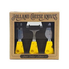 Gift set cheese knives yellow