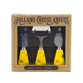 Gift set cheese knives yellow