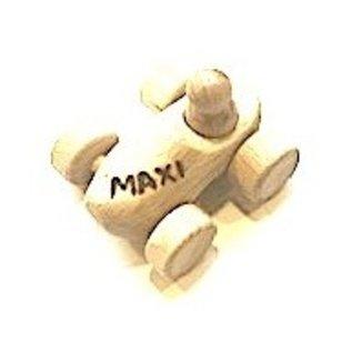 Spielzeug-Clog als Auto mit Gravur ausgeführt