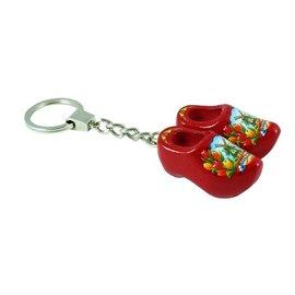 Roter Clog-Schlüsselring