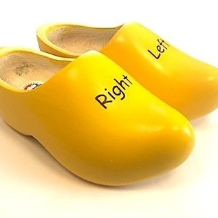Children's wooden shoes Left / Right