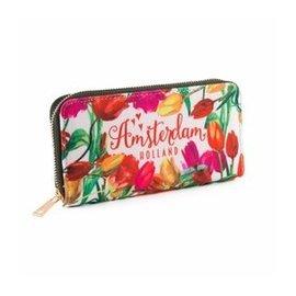 Brieftasche mehrfarbige Tulpen