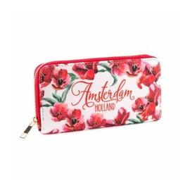Purse red tulips