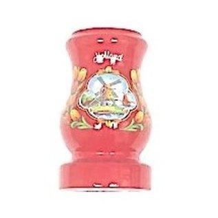 Red wooden vase