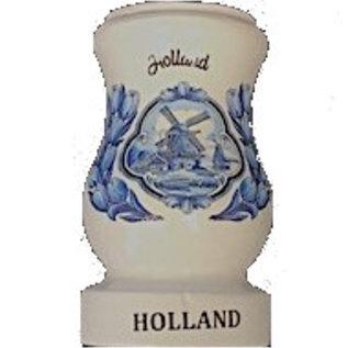 Wit houten vaas