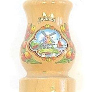 Transparent wooden vase