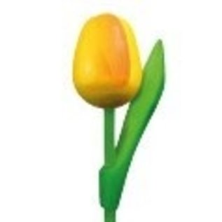 wooden tulip with logo 20 cm in various colors