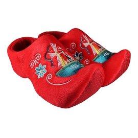Rode klomppantoffel met molen