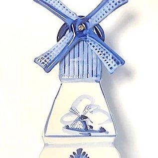 Delfts blauwe molen met waxinelicht 16 cm