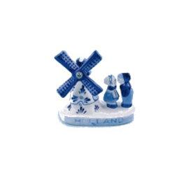 Delfter blaue Windmühle mit küssendem Paar