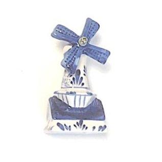 Delft blue windmill 8cm