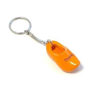 Schlüsselbund mit einem Clog mit Text