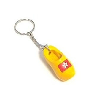 keyring with a clog with an image of the flag