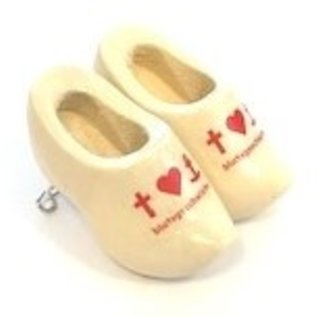 Brooch clogs with Logo