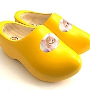 Wooden shoes with an image of your own cat